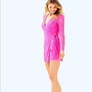 NWT Tiki Wrap Romper Raz Berry Size XL